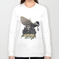 monkey island Long Sleeve T-shirts featuring Le Chuck from Monkey Island by Sara E. Snodgrass