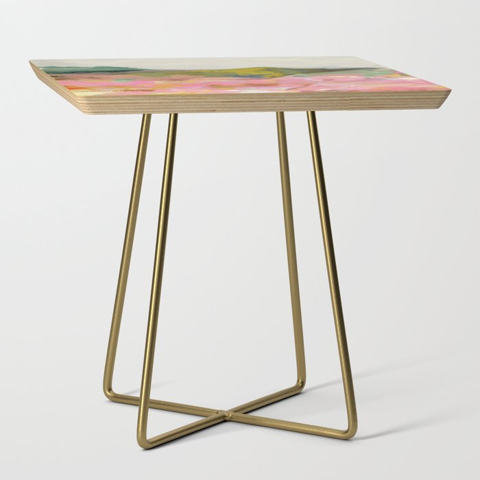 summer_landscape_Side_Table_by_lalunetricotee__Gold__Square