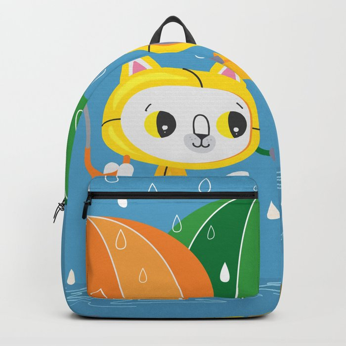 Rainy Day Kitty Cats Backpack