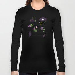 Colors: purple (Los colores: morado) Long Sleeve T-shirt