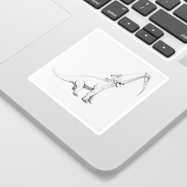 Dinosaur Crane Sticker
