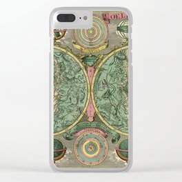 Vintage Astronomy Chart 1772 Clear iPhone Case