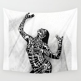 Girl In Shadow Wall Tapestry