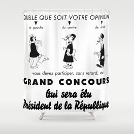 French Political Poster 1953 Shower Curtain