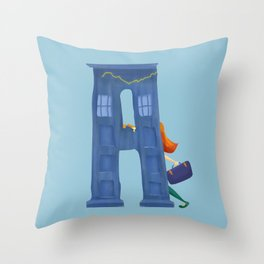 A for Amy Pond Throw Pillow