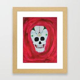 Happy Skull Framed Art Print
