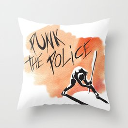 Punk The Police! Throw Pillow