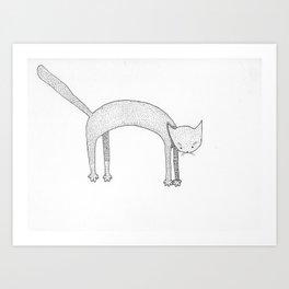 Leaping Cat Art Print