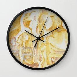 sepia III Wall Clock