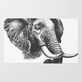 Engraved Elephant Rug