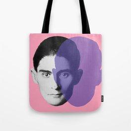 Franz Kafka - portrait pink and purple Tote Bag