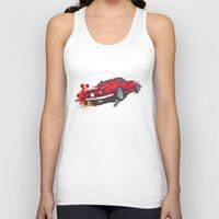 ferrari Tank Tops featuring Ferrari 275 by Claeys Jelle Automotive Artwork
