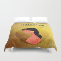 aladdin Duvet Covers featuring Aladdin Quote by Melissa Vibar