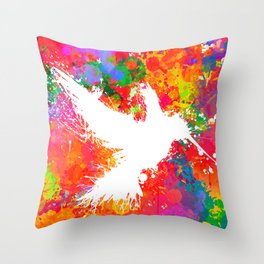 Hummingsplat - Colorless Throw Pillow