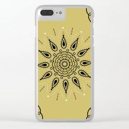 Central Mandala Dijon Clear iPhone Case