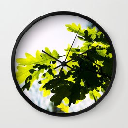 leaves and shadows Wall Clock