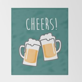 Cheers for peers with beer - Enjoy beer day with your friends Throw Blanket