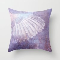 wings Throw Pillows featuring WINGS by INA FineArt