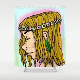 Natural Ella   Veronica Nagorny Shower Curtain