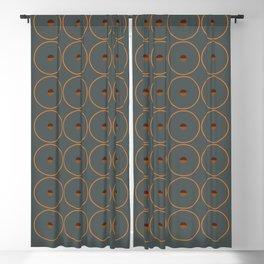 catch    anthracite & ocher Blackout Curtain