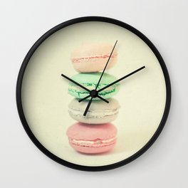 Four Macarons Wall Clock