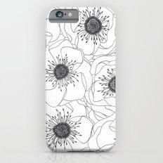 White Anemones iPhone 6s Slim Case