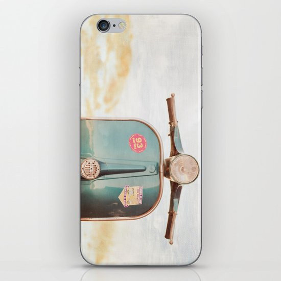 The Blue Vespa iPhone & iPod Skin