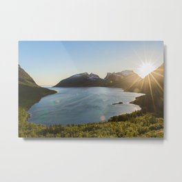 Mountain & Fjord Landscape Metal Print