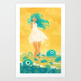 Squid Girl Art Print