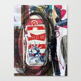Liberty Consume New York Graffiti Canvas Print