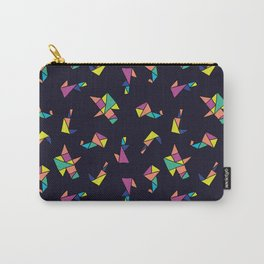 Origami blue Carry-All Pouch