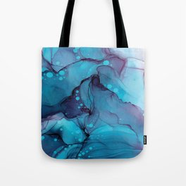 Blue Alcohol Ink Watercolour Painting Tote Bag