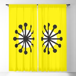 Geometric Pattern 141 (Yellow dandelion) Blackout Curtain