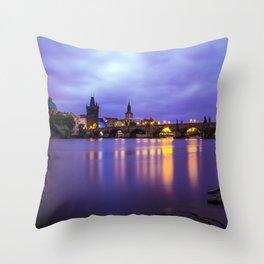 Blue Mornings Throw Pillow