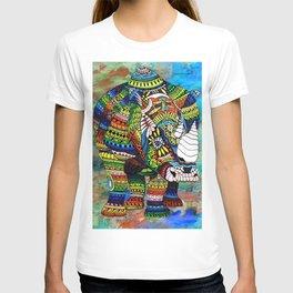 Rainbow Rhino Negative Background T-shirt