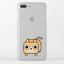 Cat Loaf - Orange Tabby Kitty Clear iPhone Case
