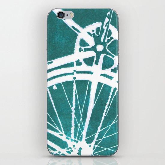 Teal Bike iPhone & iPod Skin