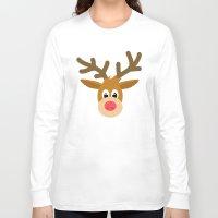 reindeer Long Sleeve T-shirts featuring reindeer by elvia montemayor