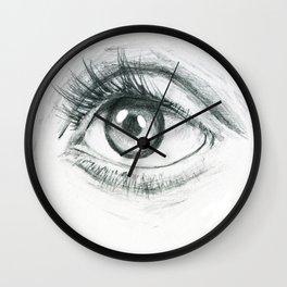 Eye Wall Clock