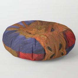 Dragon in the Misty Mountain Floor Pillow