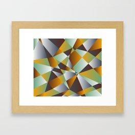 Geometrics in 1950s retro Framed Art Print