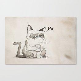 Grumpy No Canvas Print