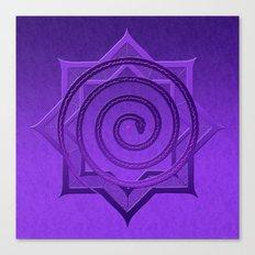 okataar purple mandala Canvas Print