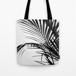 Palm leaves paradise in black Tote Bag