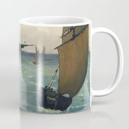 "Edouard Manet - Le ""Kearsarge"" à Boulogne Coffee Mug"