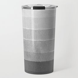 Brushstroke - Ombre Grey, Charcoal, minimal, Monochrome, black and white, trendy,  painterly art  Travel Mug