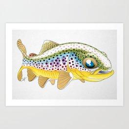 Baby Brown Trout Art Print