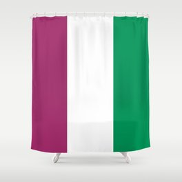 Flag of the suffragettes Shower Curtain