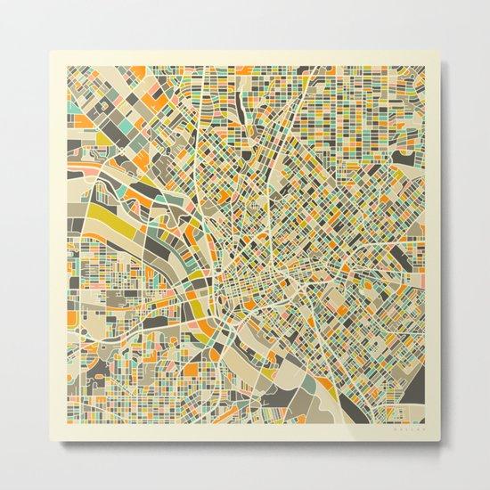 Dallas Map Metal Print