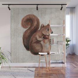 Little Squirrel, Woodland Animals, Forest Friends, Baby Animals, Children's Art Wall Mural